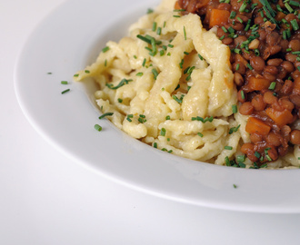 German Lentil Stew with Spaetzle (Spätzle)
