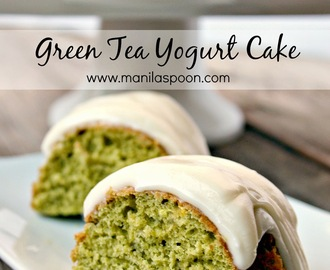 Green Tea Yogurt Cake
