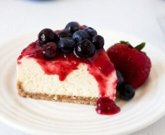 Red White and Blue Pressure Cooker Cheesecake