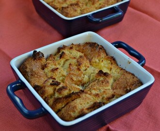 Cheese and Pineapple Bread Pudding #SundaySupper