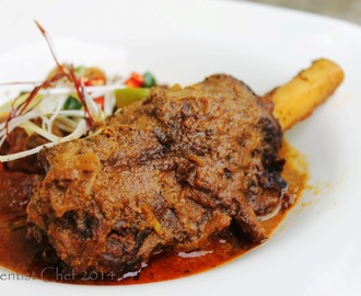 Recipe Mutton Vindaloo Curry with Lamb and Goat Shank, Potato and Jackfruit (Kari Kambing India dengan Kentang dan Nangka Muda)