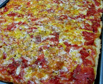 Victory Pig Sicilian Style Pizza for #SundaySupper