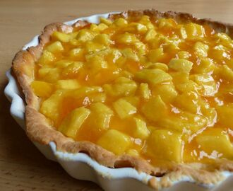 Mango Tart (with passionfruit and apricot)