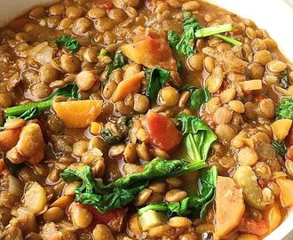 Easy Spinach-Lentil Soup