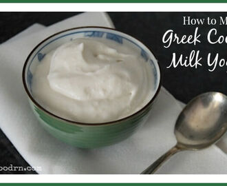 How to Make Greek Coconut Milk Yogurt