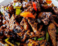 Daging babi Lada hitam (Black Pepper Pork Stir Fried)