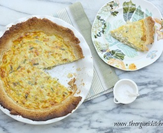Spring Quiche with Asparagus and Artichoke Hearts