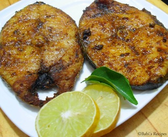 King Fish Fry | Vanjaram Meen Varuval | Easy Fish Fry