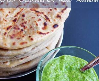 Raw Banana & Peas Stuffed Paratha
