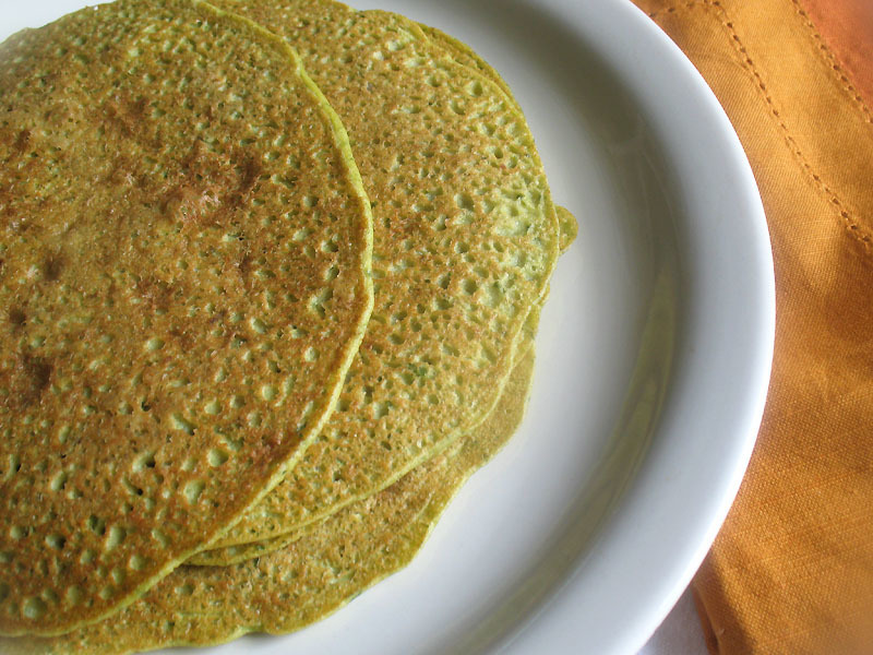 Millet and Chickpea Flour Crêpes with Spinach