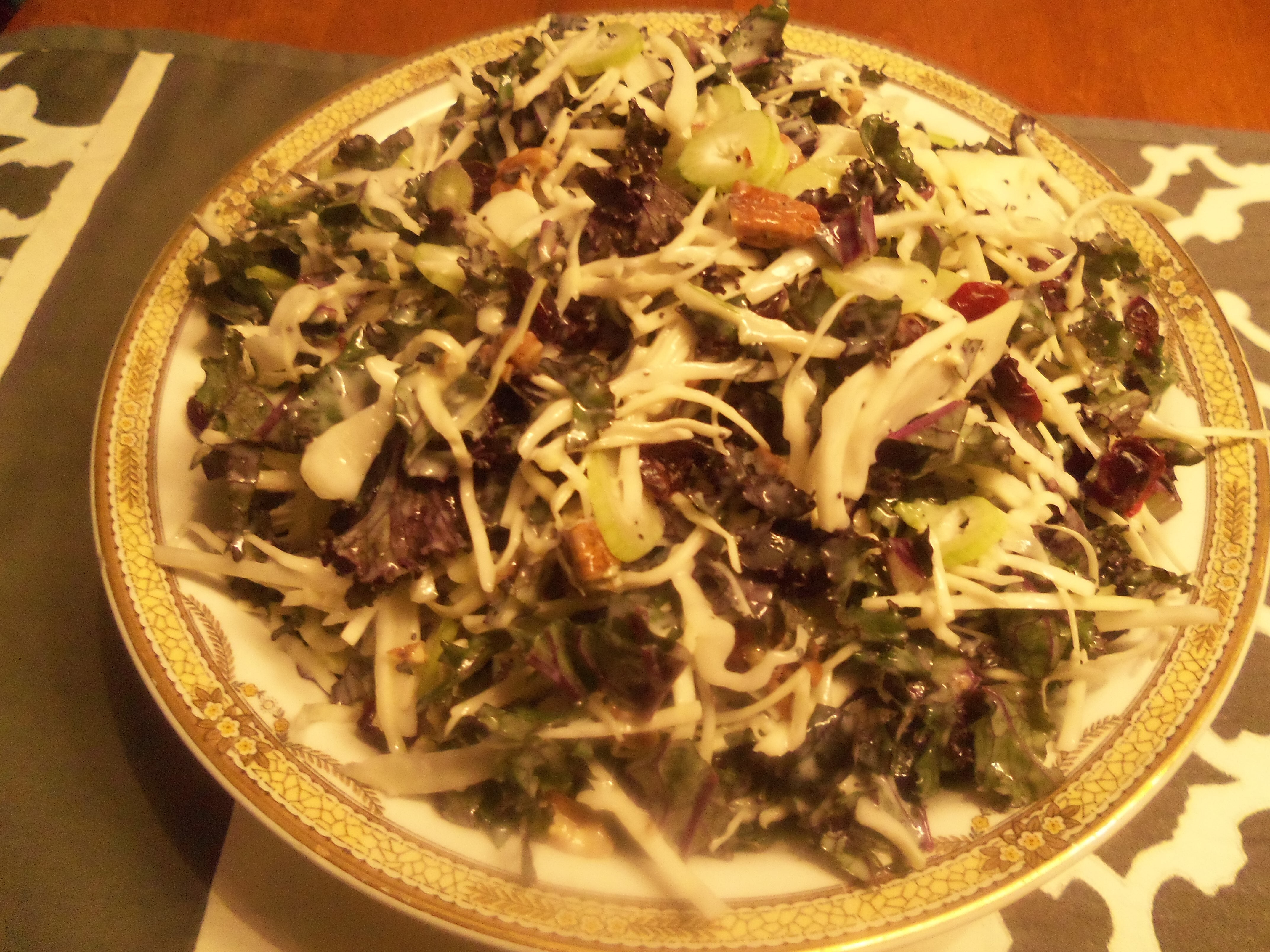 Kale, Cabbage, and Fennel Salad With Poppy Seed Dressing