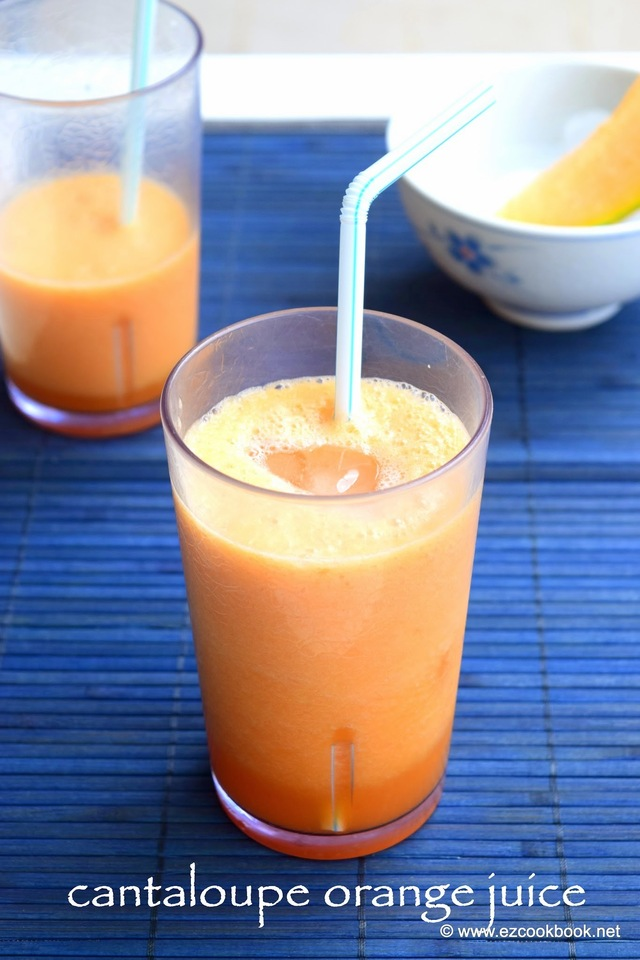 Cantaloupe Orange Juice - Summer Drink
