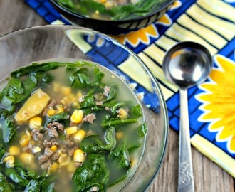 Corn and Spinach (Suam) Soup