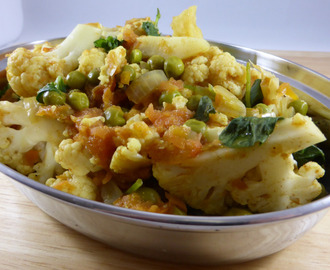 Fuhrman's Cauliflower & Green Pea Curry - adapted (vegan & gluten-free)