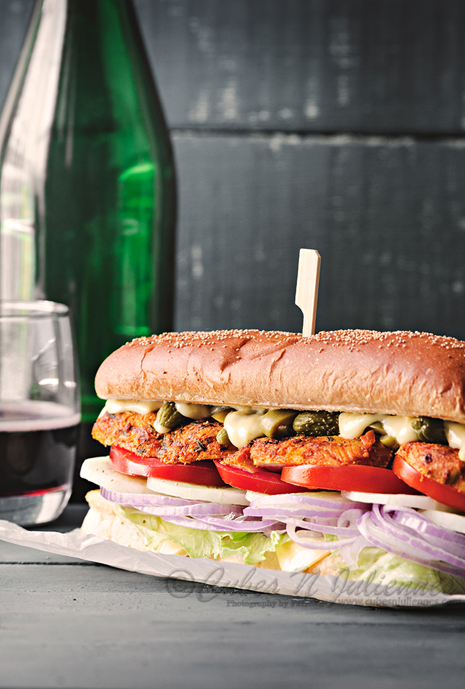 Grilled Cajun Chicken Sub Sandwich
