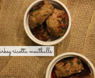 turkey ricotta meatballs