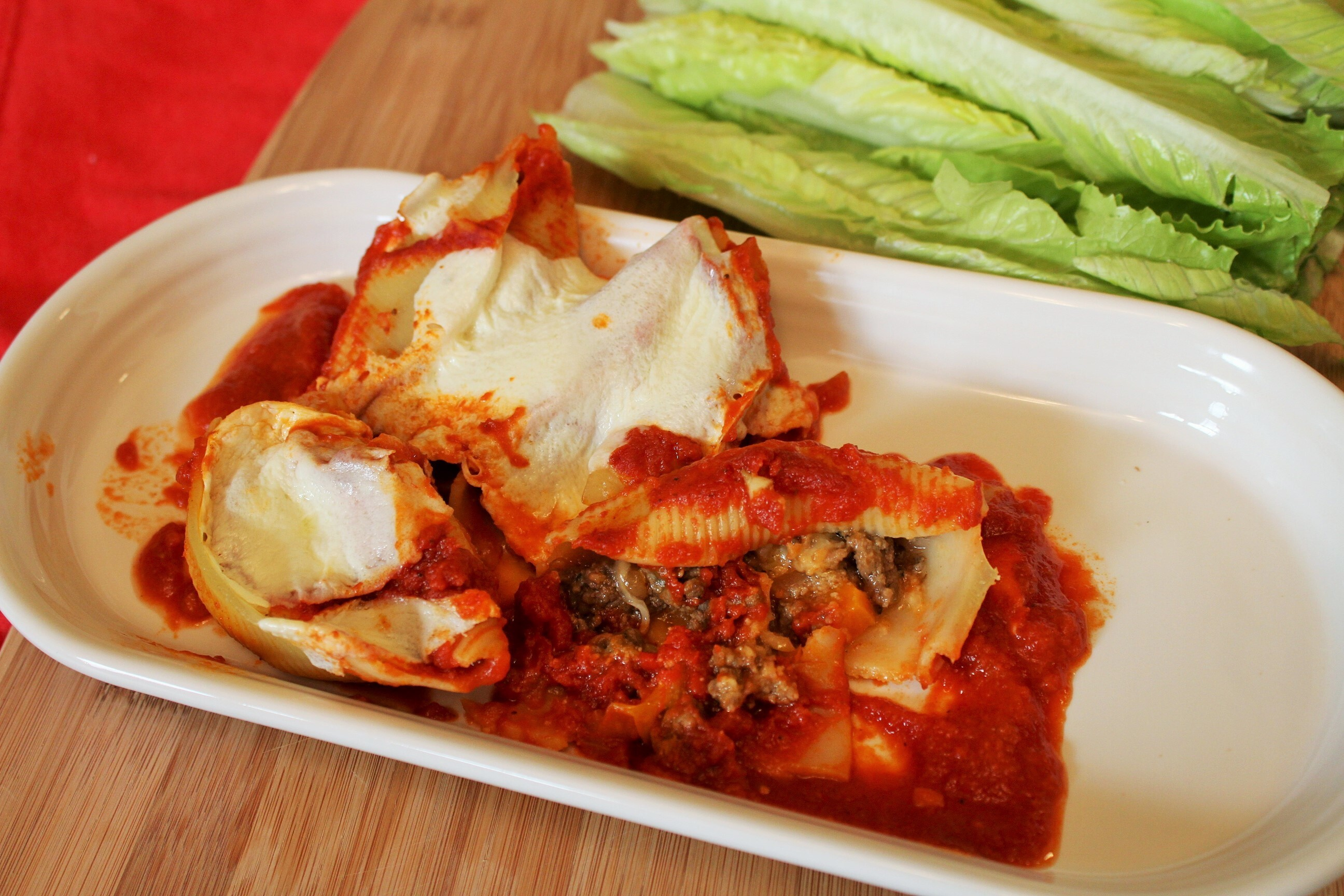 Meat & Veggie Stuffed Shells
