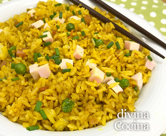 Arroz frito al curry