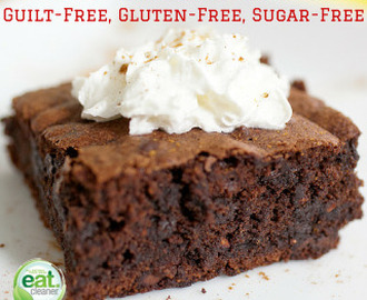 Guilt-Free, Gluten-Free, Sugar-Free Fudgy Berry Brownies