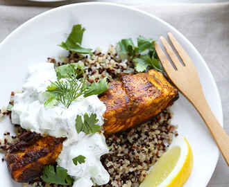 Salmon Tikka Over Quinoa