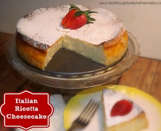 500th Post!!!  Italian Ricotta Cheesecake