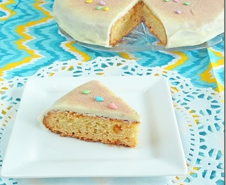 Eggless Vanilla Sponge Cake With White Chocolate Frosting
