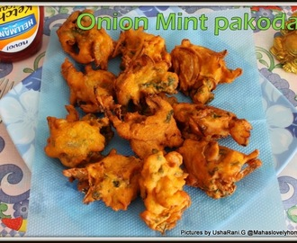 Onion Mint Pakoda | Onion Pudina Pakodi | Onion Pudina Bajji | Easy Pakora Recipes | Spicy Indian Deep Fried Tea Time Snacks