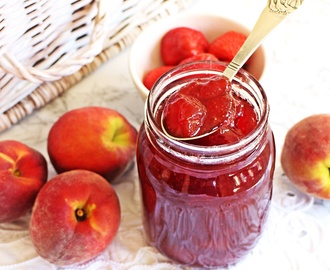 Strawberry & Peach Jam – the taste of summer!