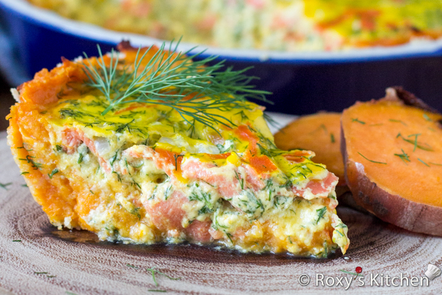 Smoked Salmon Tart with Sweet Potato Crust