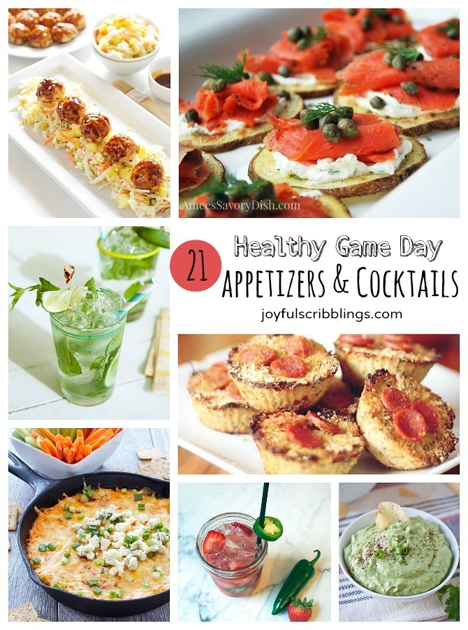 21 Healthy Game Day Appetizers & Cocktails