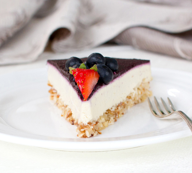 Classic 'Cheesecake' with Berry Coulis