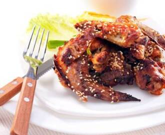 Sweet and Sour Sesame Chicken Wings
