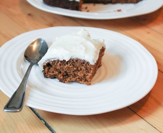 Old-Fashioned Molasses Spice Cake with Cream Cheese Icing