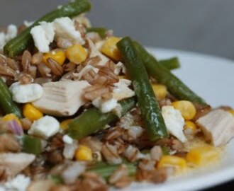 Barley Salad with Chicken and Green Beans!