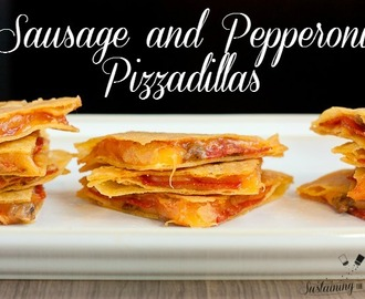 Sausage and Pepperoni Pizzadillas and a Round-up of Football Party Appetizers!