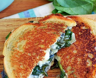 Spinach Artichoke Grilled Cheese #SundaySupper