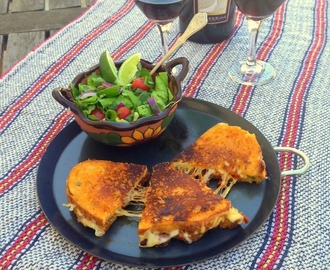 Longaniza Grilled Cheese Sandwich for #SundaySupper