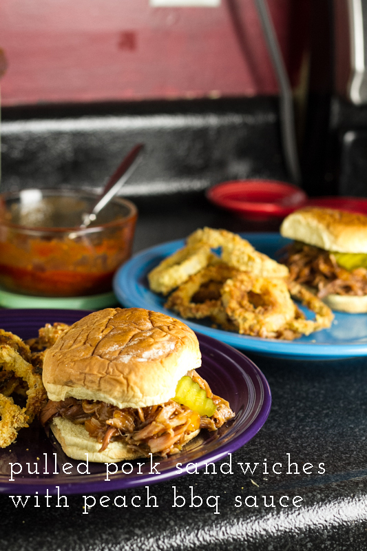 Simple Pulled Pork Sandwiches with Peach BBQ Sauce