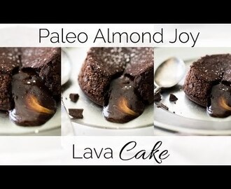 Paleo Chocolate Lava Cake Recipe with Almond Butter + Healthy Dessert Roundup + A VIDEO
