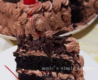 Blackforest Cake With Chocolate Whipped Cream