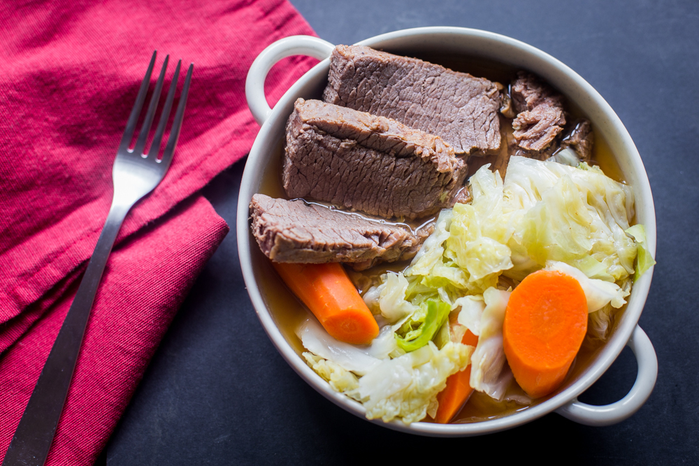 Pressure Cooker Corned Beef and Cabbage