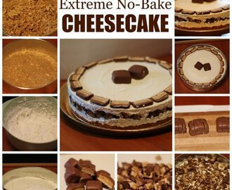 SNICKERS® Extreme Peanut Butter No Bake Cheesecake