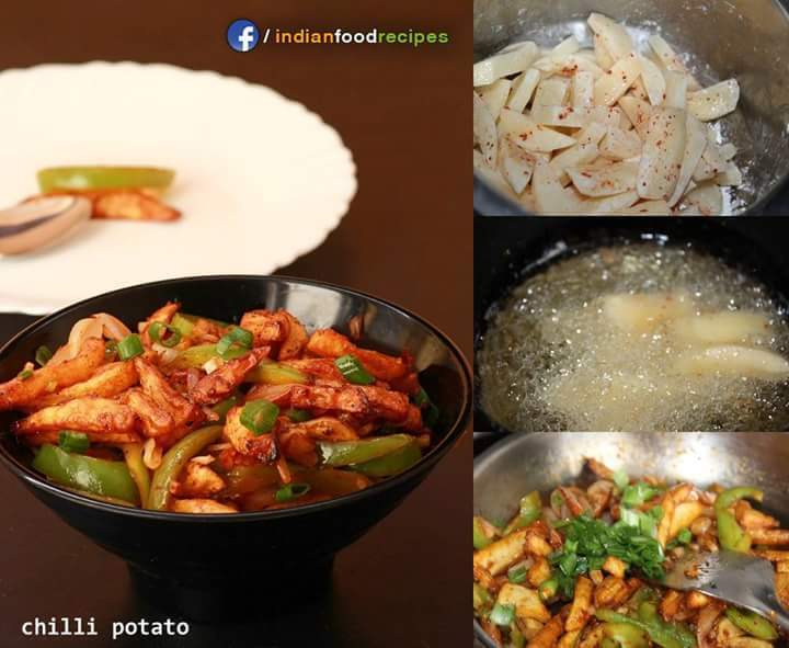 CHILLI POTATO RECIPE| CHILLI ALOO