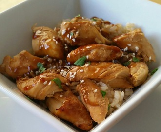 Slow Cooker Garlic Sesame Chicken