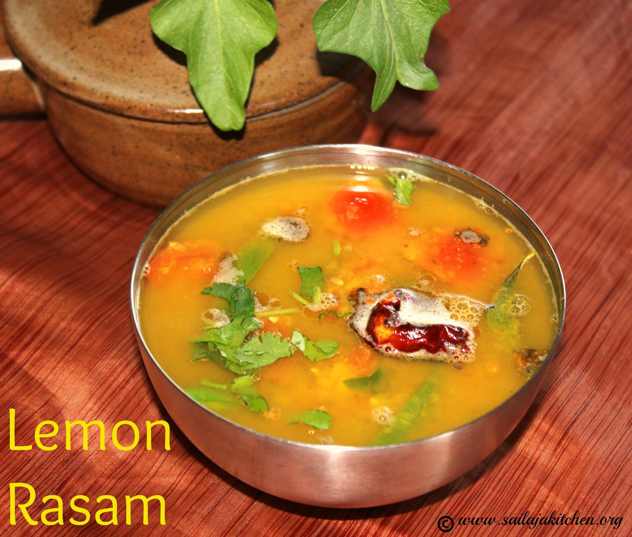 Lemon Rasam Recipe / Elumichai Rasam Recipe / South Indian Lemon Soup