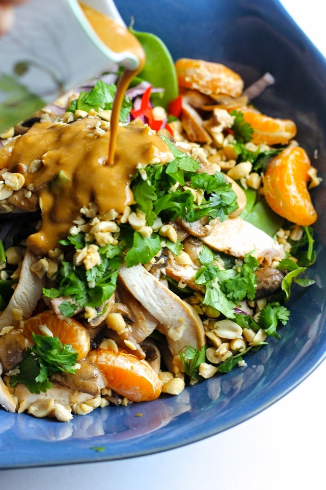 Asian Chicken Salad with Peanut Dressing