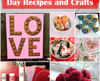 25 Sweet Valentines Day Recipes and Crafts
