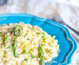 Risotto Bianco with Pesto & Asparagus