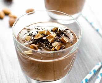 Chocolate Almond Chia Seed Smoothie