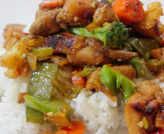 Honey Chicken & Vegetable Stir Fry